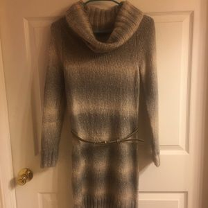 Gray Sweater Dress by The Limited